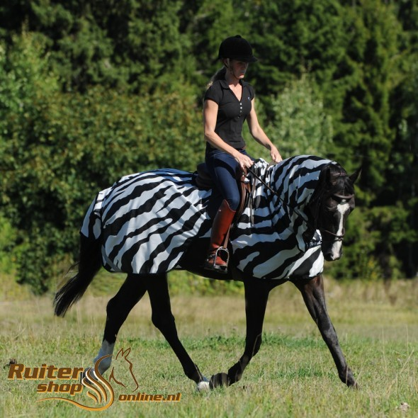 Bucas Buzz-Off Riding - Zebra