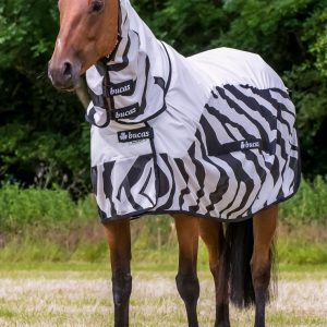 Bucas Buzz-Off Rain Zebra Full neck.