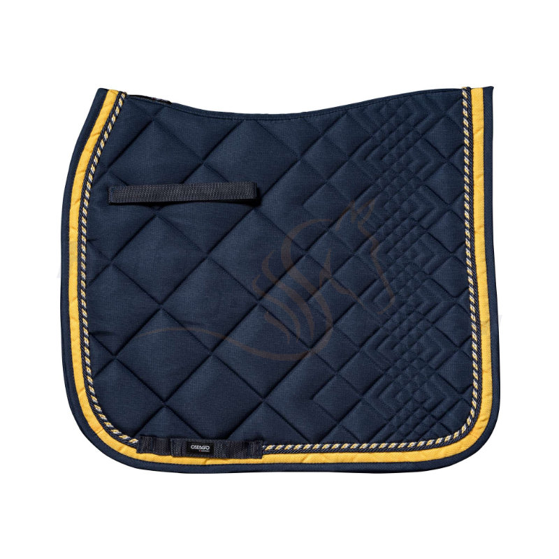 Catago Zadeldek Diamond | Navy - Geel