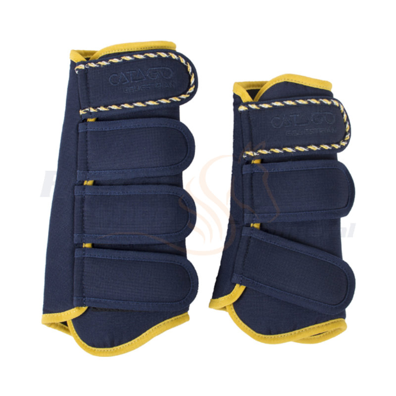 Catago Diamond Dressage Boots | Navy - Geel