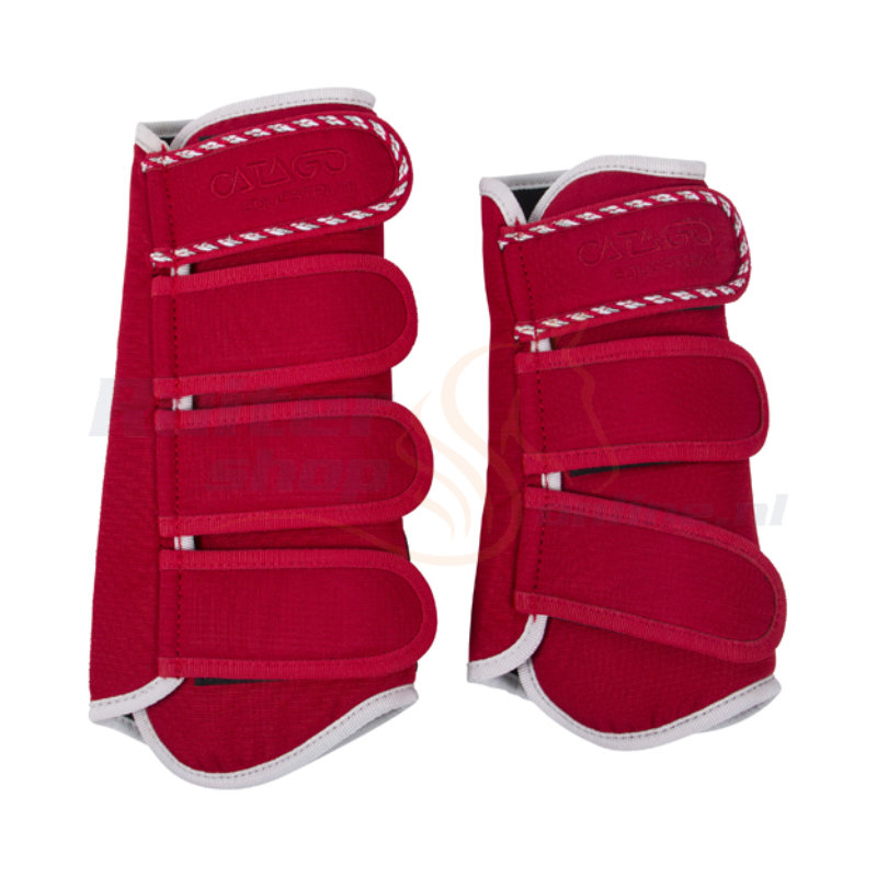 Catago Diamond Dressage Boots | Rood-Wit