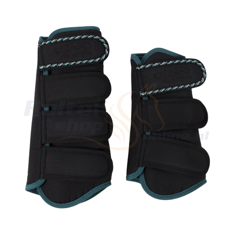Catago Diamond Dressage Boots | Zwart - Turquoise