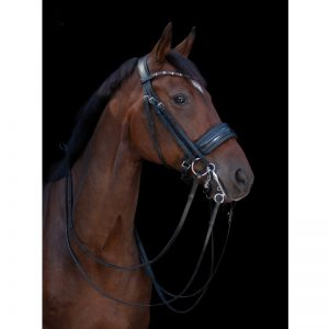 TESS Double Bridle WIDE Black-Black