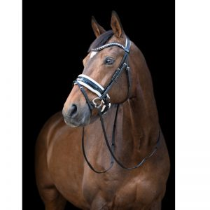TESS Trens WIDE Bridle Black-White