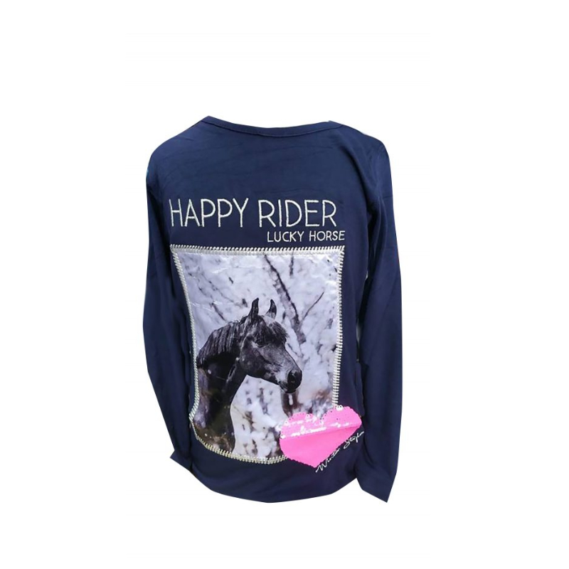 Kindershirt Fame | Long Sleeve | Red-Horse