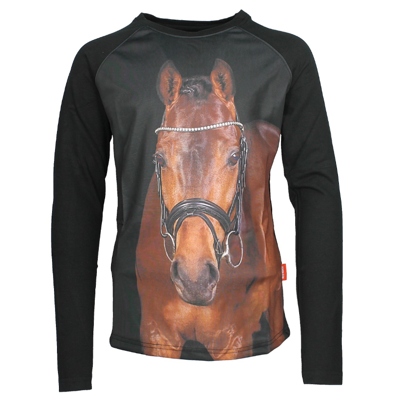 PIXEL LONG SLEEVED T-SHIRT | Red-Horse